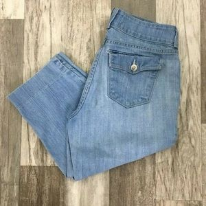 NYDJ Light Wash Capri Cropped Jeans CM01☮️